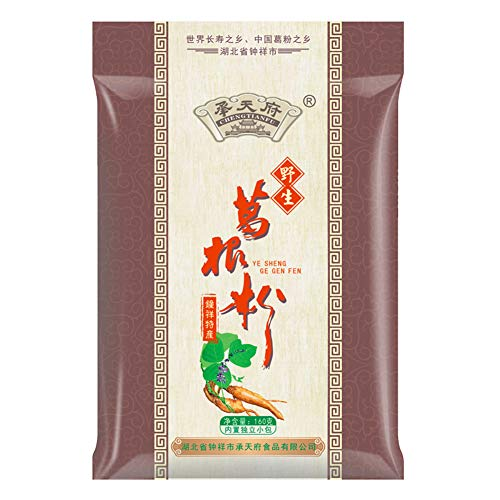 Helen Ou@ Hubei Specialty: Han Wa the Wild Root of Kudzu Vine Powder Pure and Natural and Organic Arrowroot Rich in Isoflavone Meal Replacement Powder (160g/5.64oz/0.35lb)