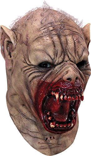 (Ghoulish Men's Gruesome Farkas Werewolf Horror Party Latex Mask Halloween)