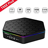 2018 Android TV Box T95Z Plus Octa-Core Android 7.1 TV Box with 2GB RAM 16GB ROM Amlogic S912 64 Bits CPU Supporting 4K Ultra HD/ Bluetooth 4.0/ Dual Band WiFi 2.4G/5G Smart TV Boxes