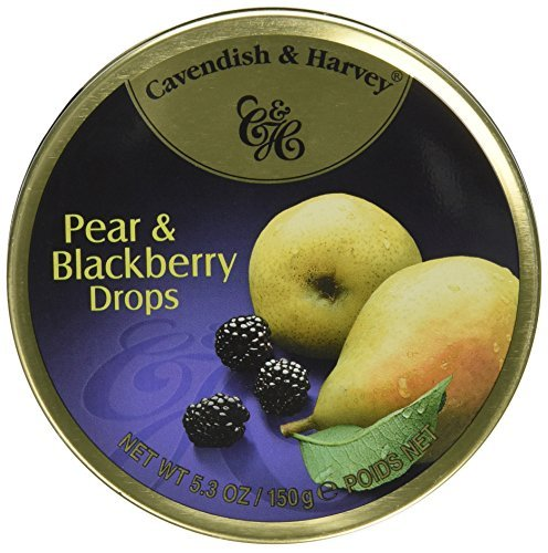 Cavendish & Harvey Fruit Drops, Pear & Blackberry, 5.3-Ounce Tin (Pack of 12) by Cavendish