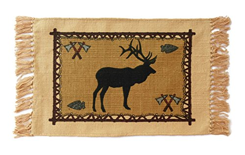 - SB Co Southwest Cotton Stencil Placemats-Mountain Wildlife Elk