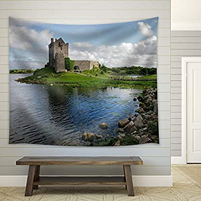 Fascinating Composition, Original Creation, Old Castle Near a Lake