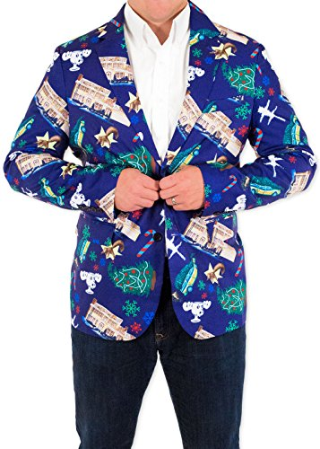 Men's Christmas Vacation Griswoldacious Holiday Suit Coat and Tie By Festified (52) (Mens Christmas Suits)