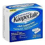 Kaopectate Multi-Symptom Relief Anti-Diarrheal Upset Stomach Reliever Caplets, 28 Count