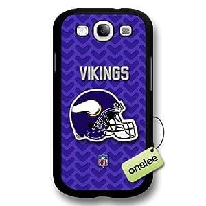 NFL Minnesota Vikings Team Logo Samsung Galaxy S3(i9300) Black Hard Plastic Case Cover - Black hjbrhga1544