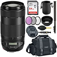 Canon EF 70-300mm f/4-5.6 IS II USM High-speed autofocus lens with image stabilizer and NANO USM Technology Savings Bundle.