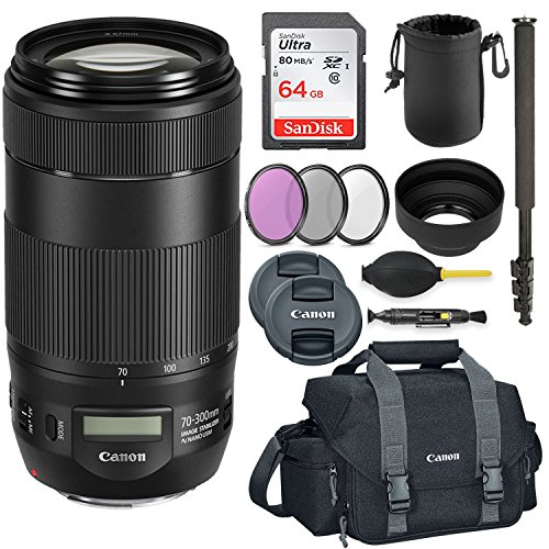 Canon EF 70-300mm f/4-5.6 IS II USM High-speed autofocus lens with image stabilizer and NANO USM Technology Savings - Technology Lens