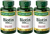 Cheap Set of 3 Nature's Bounty® Biotin 5000 mcg, 150 Softgels by Maven Gifts