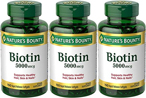 Set of 3 Nature's Bounty® Biotin 5000 mcg, 150 Softgels by Maven Gifts