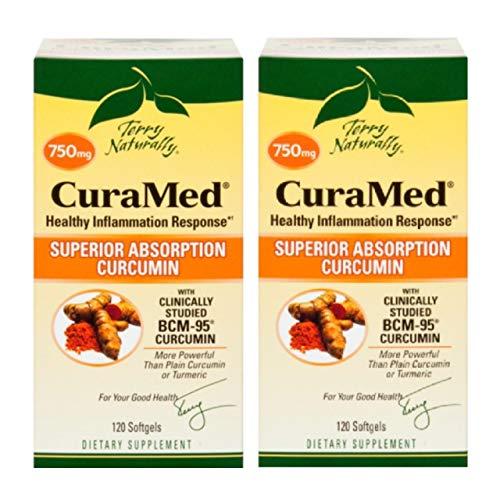Cheap Terry Naturally/EuroPharma CuraMed 750mg BCM-95 Curcumin, 120 Softgels -(2 Pack)