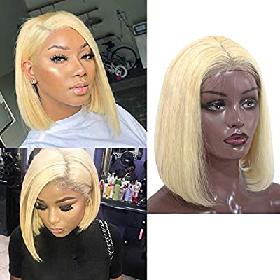 Short Lace Front Human Hair Wigs Blonde Bob Wig With Pre Plucked Hairline For Black Women Full End Multiple Colors Free Shipping Clients First Lace Wigs