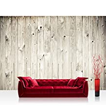 "Photo wallpaper - wood look wood wall - 157.4""W by 110.2""H (400x280cm) - Non-woven PREMIUM PLUS - WEATHERED WOOD PLANK - Wall Decor Photo Wall Mural Door Wall Paper Posters & Prints"