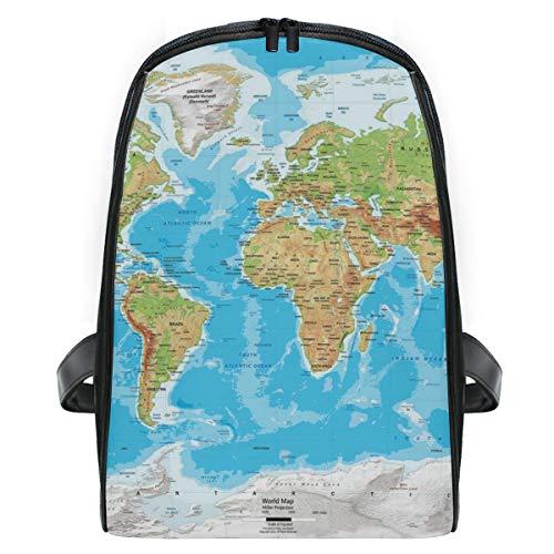 WORLD MAPS HD School Backpack For Boys Kids Preschool School Bag Toddler Bookbag ()