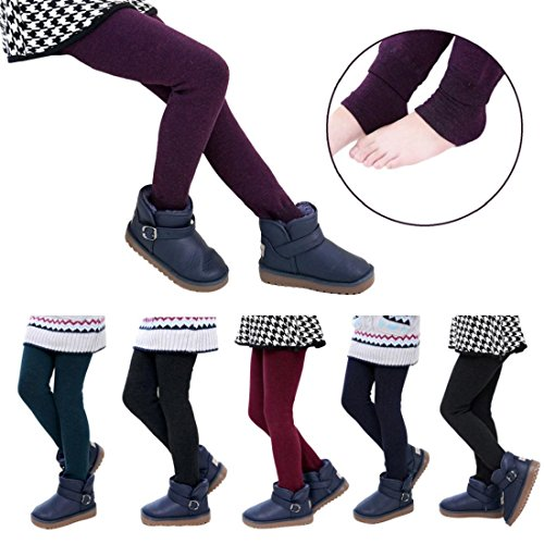 GONKOMA Warm Winter Girls Pants Children Thick Warm Elastic Waist Leggings