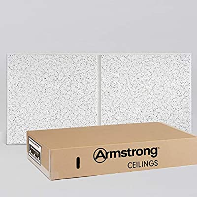 Armstrong Ceiling Tiles; 2x4 Ceiling Tiles - Acoustic Ceilings for Suspended Ceiling Grid; Drop Ceiling Tiles Direct from the Manufacturer; CORTEGA Second Look Item 2767 - 10 pcs White Tegular