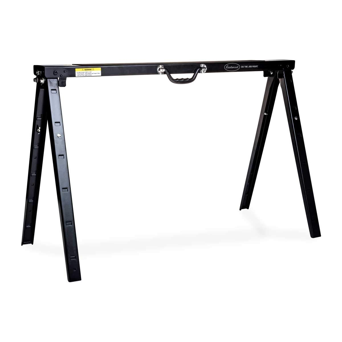 Eastwood Heavy Duty Height Adjustable Steel Or Metal Saw Horse And Jobsite Table With Legs Portable 1500 Lbs by Eastwood