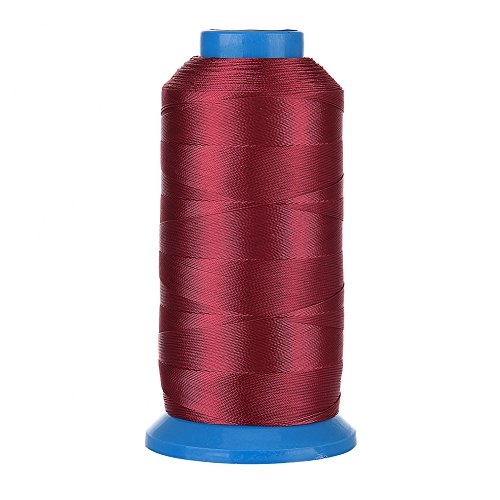 (Selric [1500Yards / 20 Colors Available] UV Resistant High Strength Polyester ThreadII #69 T70 Size 210D/3 for Upholstery, Outdoor Market, Drapery, Beading, Purses, Leather (Wine Red))