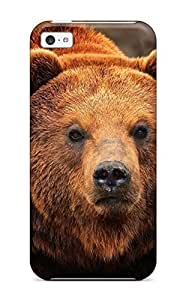 Rugged Skin Case Cover For Iphone 5c- Eco-friendly Packaging(grizzly Bears )