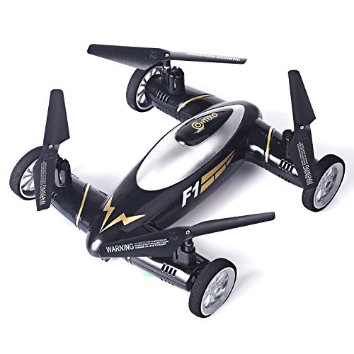 Contixo Kids Drone F1 Black RC Quadcopter Flying Car Bonus Battery Easy Stunts 4 Channel 24GHz 6 Axis Gyro