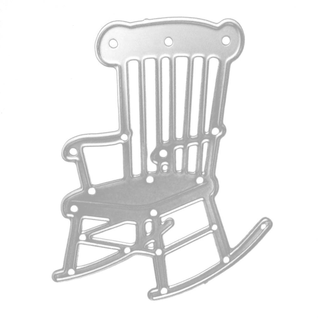 Autumn-wind New Carbon Steel Metal Chair/Animal/Girl Cutting Dies Craft Embossing Stencils For DIY Scrapbooking Greeting Journaling Card Making (A:Chair)