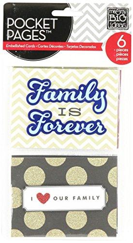 [해외]me & my BIG ideas 포켓 페이지 포켓 카드 우리 가족 / me & my BIG ideas Pocket Pages Pocket Cards, Our Family