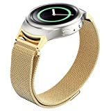 Cool Watch Band, Han Shi Loop Stainless Steel Watch Band + Connector for Samsung Galaxy Gear S2 (Gold)