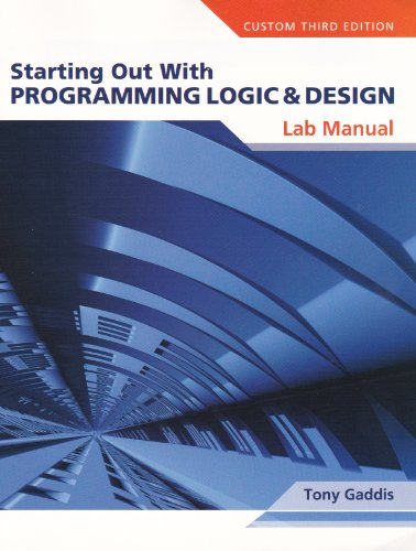 starting out with programming logic and design tony gaddis Buy starting out with programming logic and design - with code 4th edition (9780133985078) by tony gaddis for up to 90% off at textbookscom.