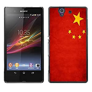 Shell-Star ( National Flag Series-People's Republic of China ) Snap On Hard Protective Case For SONY Xperia Z / L36H / C6602 / C6603 / C6606