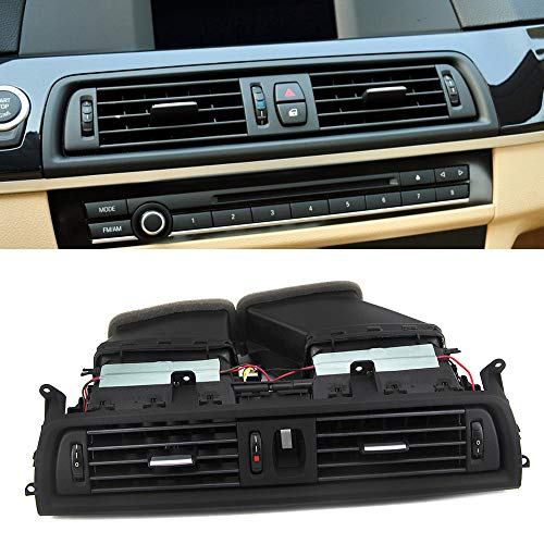 FEXON Front A/C Vent Assembly, Dashboard Fresh Air Grille Center Vents for 2011-2016 BMW 5 Series 528i 535i 535d 535 550i M5 Rep# 64229209136
