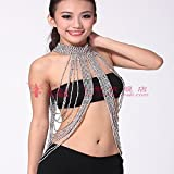Lecent@ Belly Dance Accessories Tassel Gold/silver Necklace Lengthened Neck Chain