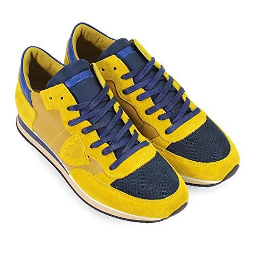 Sneakers Philippe Tropez Giallo Autunno Inverno Model Blu Mondial 2019 Uomo Scarpe OOCB4Ztwq