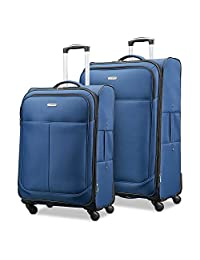 "Samsonite Advance Xlt Lightweight 2 Piece Softside Set (21""/25""), Navy"