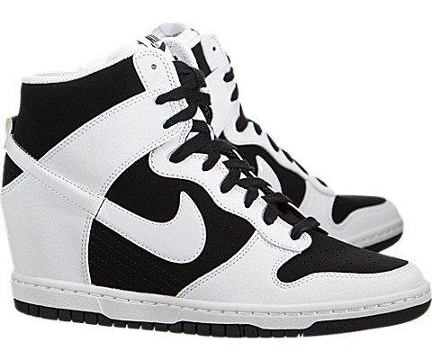 179d04c78217 Nike Dunk Sky Hi Essential 644877-007 White Black Hidden Wedge Women s  Shoes (