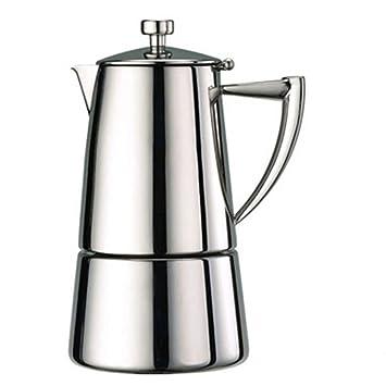 J.FANG Alta Calidad Italiana Estufa 304 Acero Inoxidable Café Moka Pot Expreso Café Fabricante,4Cups: Amazon.es: Hogar