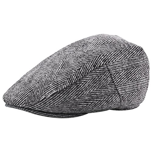 (BABEYOND 1920s Gatsby Newsboy Hat Cap for Men Gatsby Hat for Men 1920s Mens Gatsby Costume Accessories (Gray,)