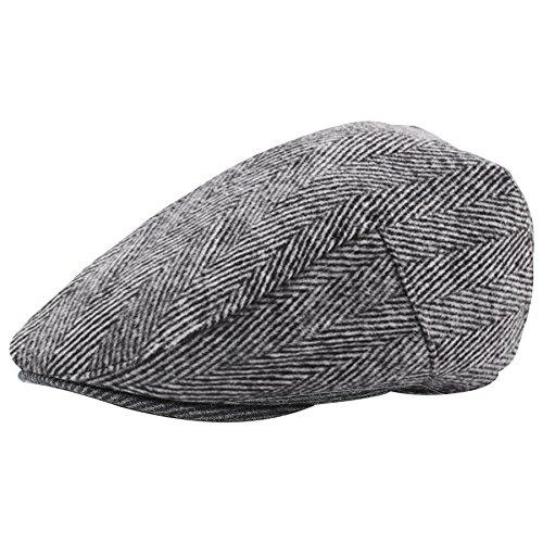 BABEYOND 1920s Gatsby Newsboy Hat Cap for Men Gatsby Hat for Men 1920s Mens Gatsby Costume Accessories (Gray, Small/Medium) -