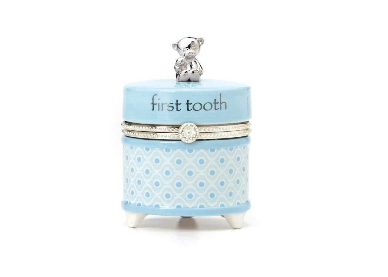 Nat and Jules First Tooth Keepsake Box, Blue