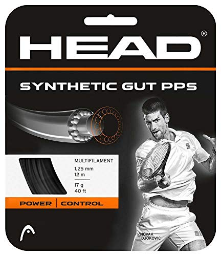 HEAD Synthetic Gut PPS Tennis String Set-16G Black ()