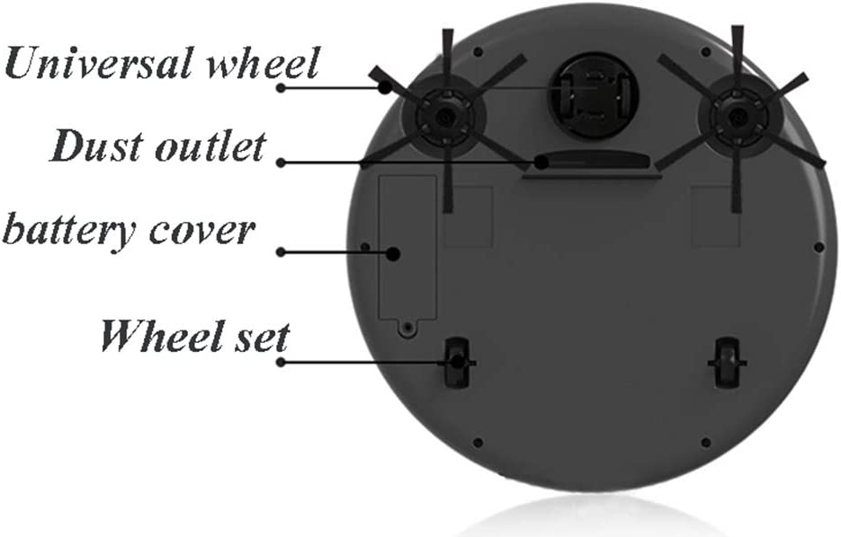 FAPROL Aspirateur Robot Aspirateur sans Fil Multifonctionnel Balayage Anti-Collision, Aspiration Et Nettoyage 3 en 1 Black