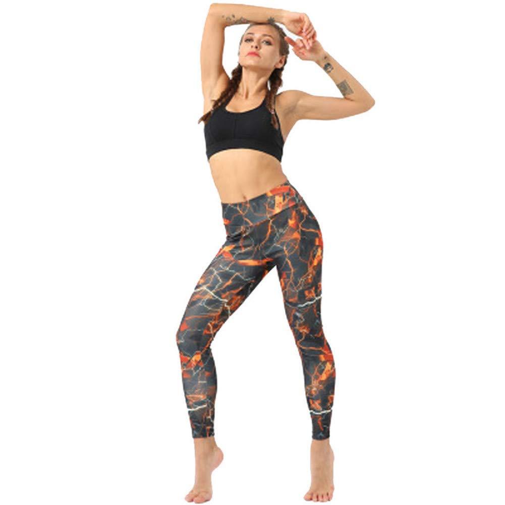 YUYOGAP Yogahosenfrauen Gedruckte Yogahosenfrauen-Strumpfhosen der Engen Höhe Taillenaufzughüfte mit neun Punkten, die Sporthosen Laufen Lassen