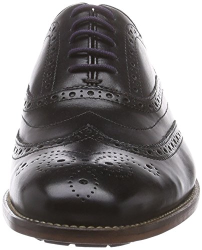 Clarks Penton Limit - Zapato brogue de cuero hombre Negro (Black Leather)