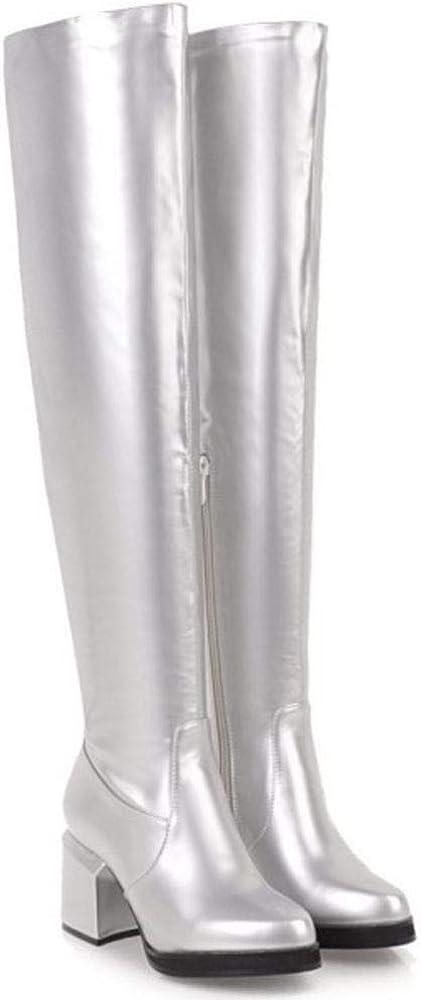 Skapee Women Fashion Block Heel Over The Knee Boots