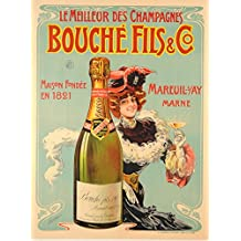 Bouche Fills Co -Champagnes Vintage Tin Sign Advertising