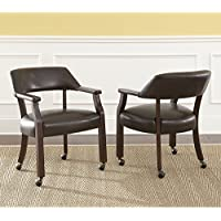 Greyson Living Montreal Captains Arm Chair with Casters by