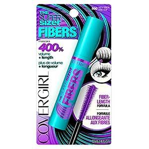 CoverGirl The Super Sizer Fibers Mascara, Very Black, 0.028 Pound