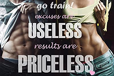 Fitness Motivation Posters Inspiration Quotes Wall Art Decals Workout Bodybuilding Fabric Silk Poster Prints size 24x36 inches GmOb18
