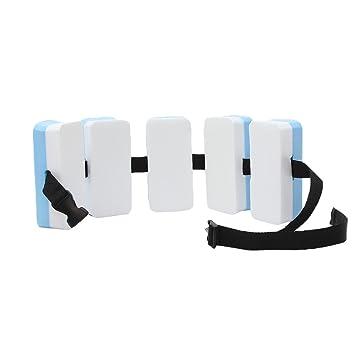 GEMVIE Flotador de Espalda para Niños Ayuda Aprendizaje Tabla de Natación Piscina 15×7×4.5cm Azul y Blanco: Amazon.es: Juguetes y juegos