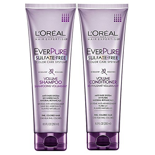 Color Loreal Shampoo (L'Oreal Paris EverPure Sulfate-Free Color Care System, DUO set Volume Shampoo + Conditioner, 8.5 Ounce, 1 each)