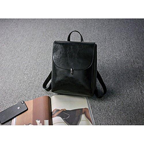 À Retro Femmes Messenger Main Cartable ZW Sac Bandoulière Black De f15SqRPwx