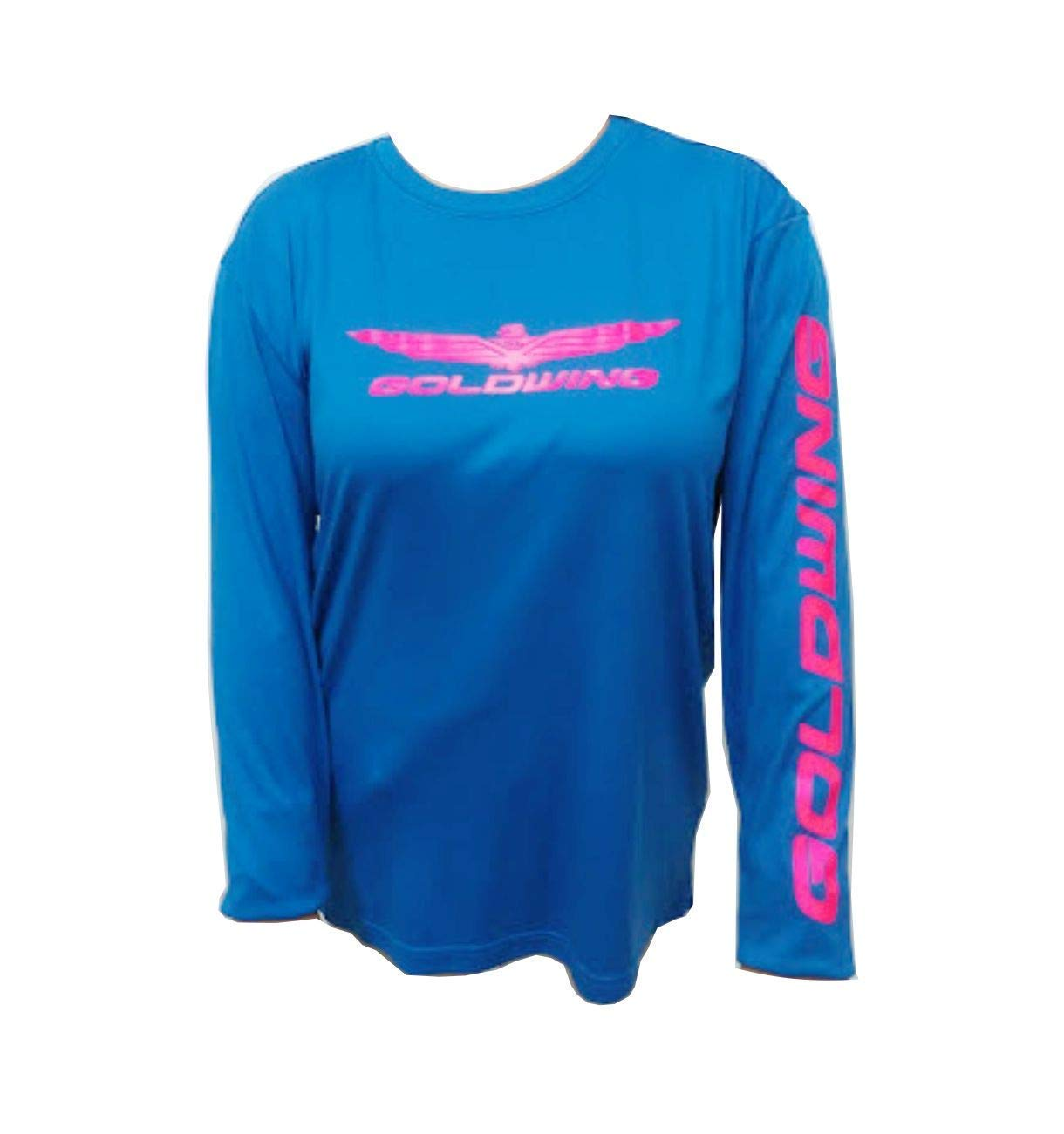 Mens Long Sleeve Goldwing 1800 T-shirt high visibility safety green